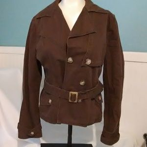 Apt.9 Jacket With Belt. Brown.